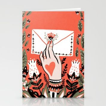 Love Letter Stationery Cards by Angela Rizza