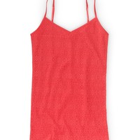 Crochet-Front V-Neck Basic Cami
