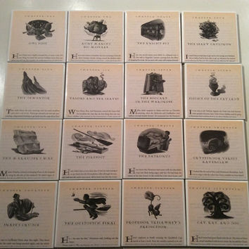 Harry Potter Coasters With Chapter Illustrations