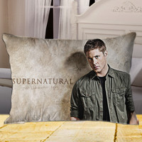 Jensen Ackles Supernatural The Movie on Rectangle Pillow Cover