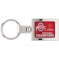 OHIO ST KEY RING - DOMED PREMIUM METAL -