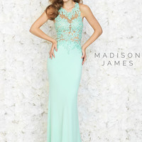Black Lace Madison James Prom Dress 15-160