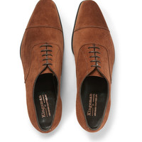 Kingsman - George Cleverley Suede Oxford Shoes | MR PORTER