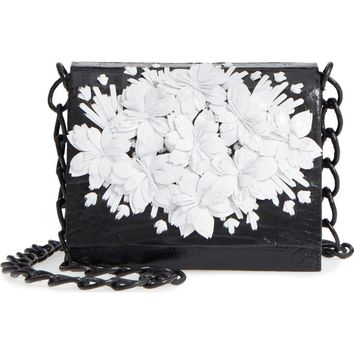 Nancy Gonzalez Gio Flower Genuine Crocodile Crossbody Bag | Nordstrom