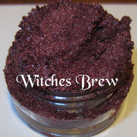 Witches Brew Red Burgundy Shimmer Glitter Gothic Mineral Eyeshadow Mica Pigment 5 Grams Lumikki Cosmetics