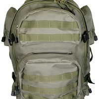 NcStar PVC Construction OD Green Tactical Backpack Modular Pack Airsoft Camping