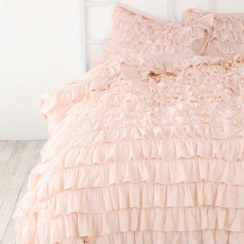 Plum & Bow Waterfall Ruffle Sham Set - Urban Outfitters