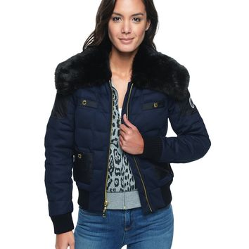 Regal Techy Short Puffer With Wool by Juicy Couture,