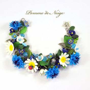 The Сornflowers and Сhamomiles Bracelet