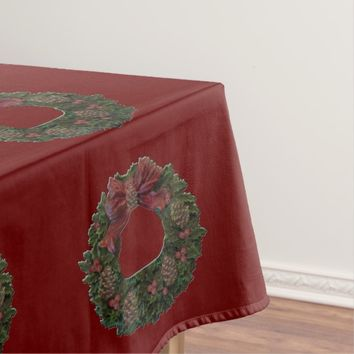Green Waterloo Wreath Tablecloth