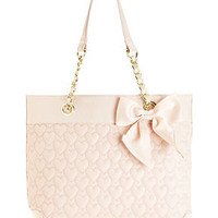 Betsey Johnson Handbag, Heart Quilted Tote - Handbags & Accessories - Macy's