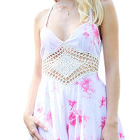 Cami Romper With Crochet detail
