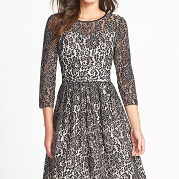 Women's Eliza J Lace Fit & Flare Dress,