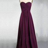Elegant A-line Sweetheart Neckline Sweep Train Prom Dress