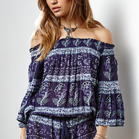 Raga Island Violet Off-The-Shoulder Romper at PacSun.com