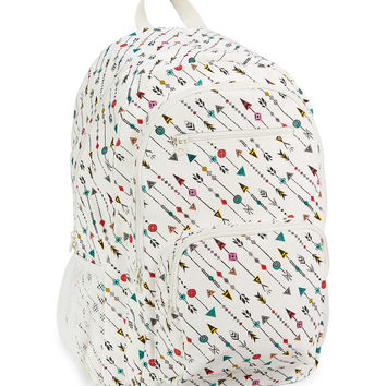 Geo Arrow Print Backpack