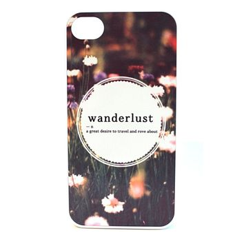 Wanderlust Definition Floral Phone Case