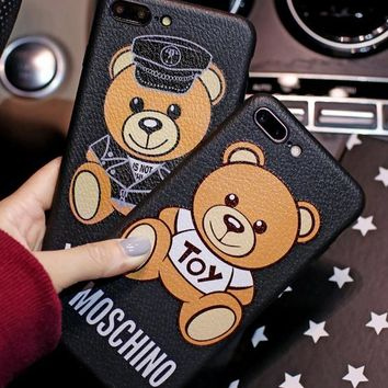 MOSCHINO phone case shell  for iphone 6/6s,iphone 6p/6splus,iphone 7/8,iphone 7p/8plus, iphonex