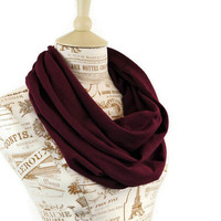 Infinity Scarf Maroon Mulberry Burgundy Circle Fall