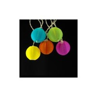 Walmart: Set of 10 Vibant Multi-Colored Round Chinese Lantern Lights - White Wire