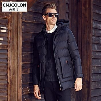 Cotton Padded Hooded Jacket Men windproof,Parka Men Clothing Thick Quilted long type Coat Men
