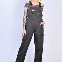 Super Over It Deadstock Baggy Overalls - Army Green