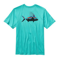 Patagonia Men's Fitz Roy Rooster Cotton T-Shirt- Howling Turquoise