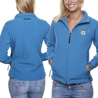 North Carolina Tar Heels (UNC) Ladies Athena Full Zip Jacket - Carolina Blue