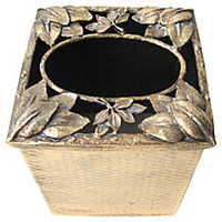 Gilt Leaves Tissue Box