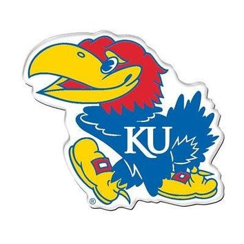 "Licensed Kansas Jayhawks Official NCAA 2.5"" Acrylic Car Magnet KU by Wincraft KO_19_1"