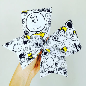 Charlie Brown Fabric cheer bow