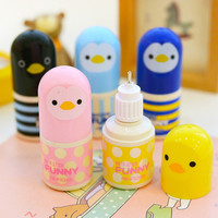 Cute Kawaii Cartoon Plastic Correction Fluid Creative Chicken Correction Tape For Kids School Supplies Free Shipping 858