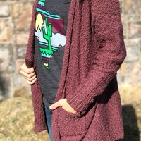 Endless Possibilities Cardigan - Maroon