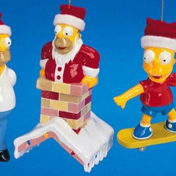 3 Christmas Ornaments - The Simpsons
