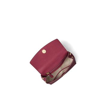 MICHAEL Michael Kors Ava Extra-Small Saffiano Leather Crossbody Bag - Mulberry