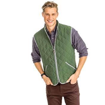 Doubleback Quilted Field Vest by Southern Tide