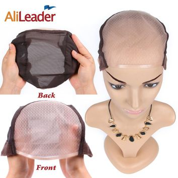Alileader  Mono Net For Making Wig Lace Wig Toupee Mono Wig Beige Color Foundation Hair Accessories Weaving High Quality