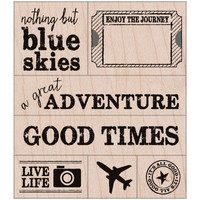 Hero Arts® A Great Adventure Wood Stamp Set