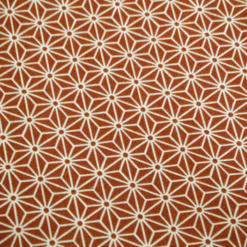 Wine Red Asanoha Japanese cotton fabric