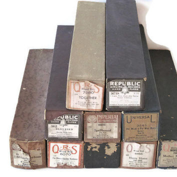 Vintage Player Piano Rolls Set of 10 by PhotosPast on Etsy