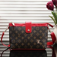 LV Louis Vuitton Fashion New Monogram Leather Women Crossbody Leisure Shoulder Bag