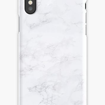 'Light White & Grey Marble Texture Pattern ' iPhone Case by JakeRhodes