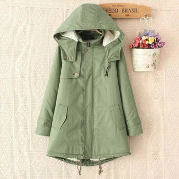 ac DCK83Q Thicken Green Cotton Winter Casual Jacket [9133915404]