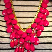 Oh How Fancy Necklace: Fushia | Hope's