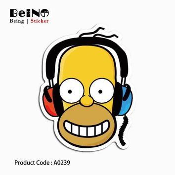 cartoon anime Simpsons sticker funny listen waterproof suitcase laptop guitar luggage skateboard bicycle toy love A0239 stickers