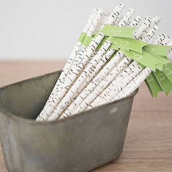 Birch Print Straws (Set of 75)