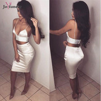 sexy ladies party bandage keen length dress 2017summer backless two 2 piece bodycon dresses evening party women  dress vestidos