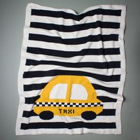 "Estella Large Organic Cotton Taxi Baby Blanket 36"" x 30"""