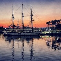 Bay Side Sunset Art Print by RichCaspian