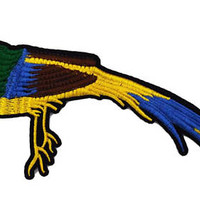 XXL Extra Large 28cm Beautiful Tropical Bird Patch Applique